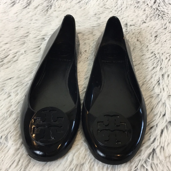 b9b8560de Tory Burch Reva Black Jelly Flats Size 7. M 5ab912593a112eb191ee2e6f